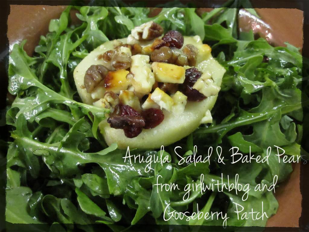 Arugula Salad & Baked Pears