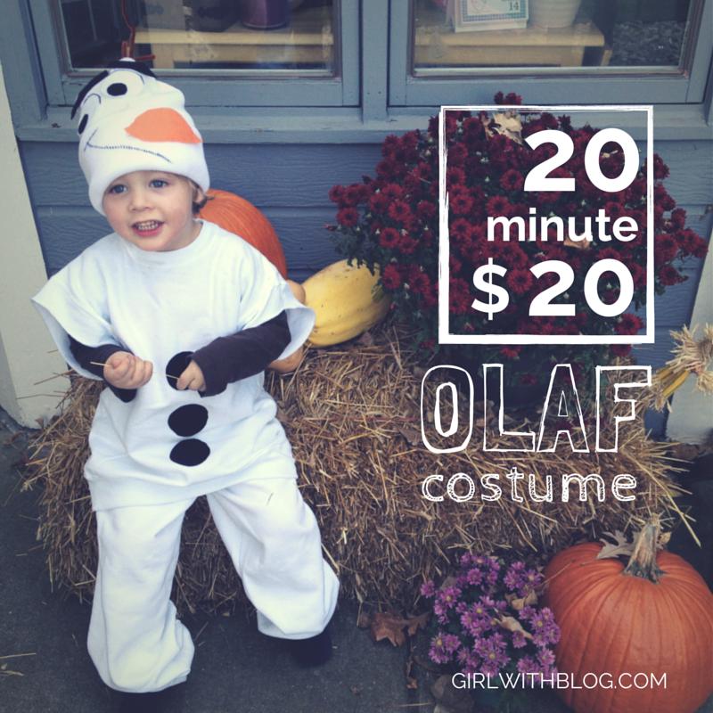 20 Minute $20 Olaf Costume
