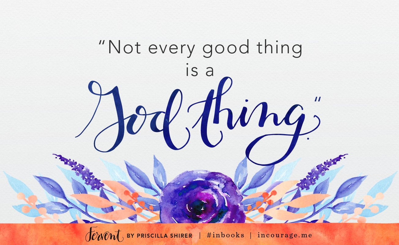 Not Every Good Thing is a God Thing